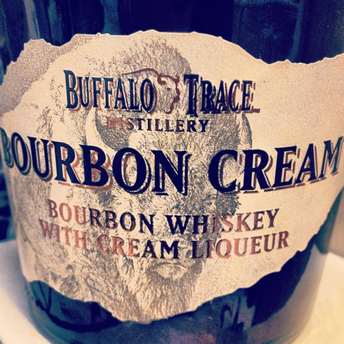 Buffalo Trace Bourbon Cream Label
