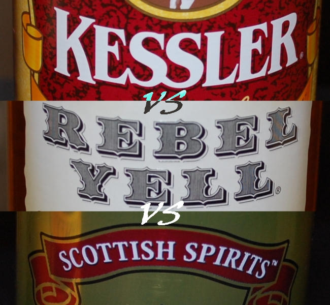 Kessler versus Rebel Yell versus Scottish Spirits