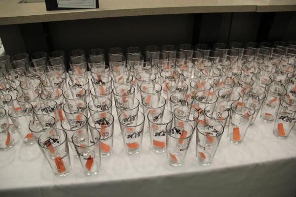 Empty glasses before hand