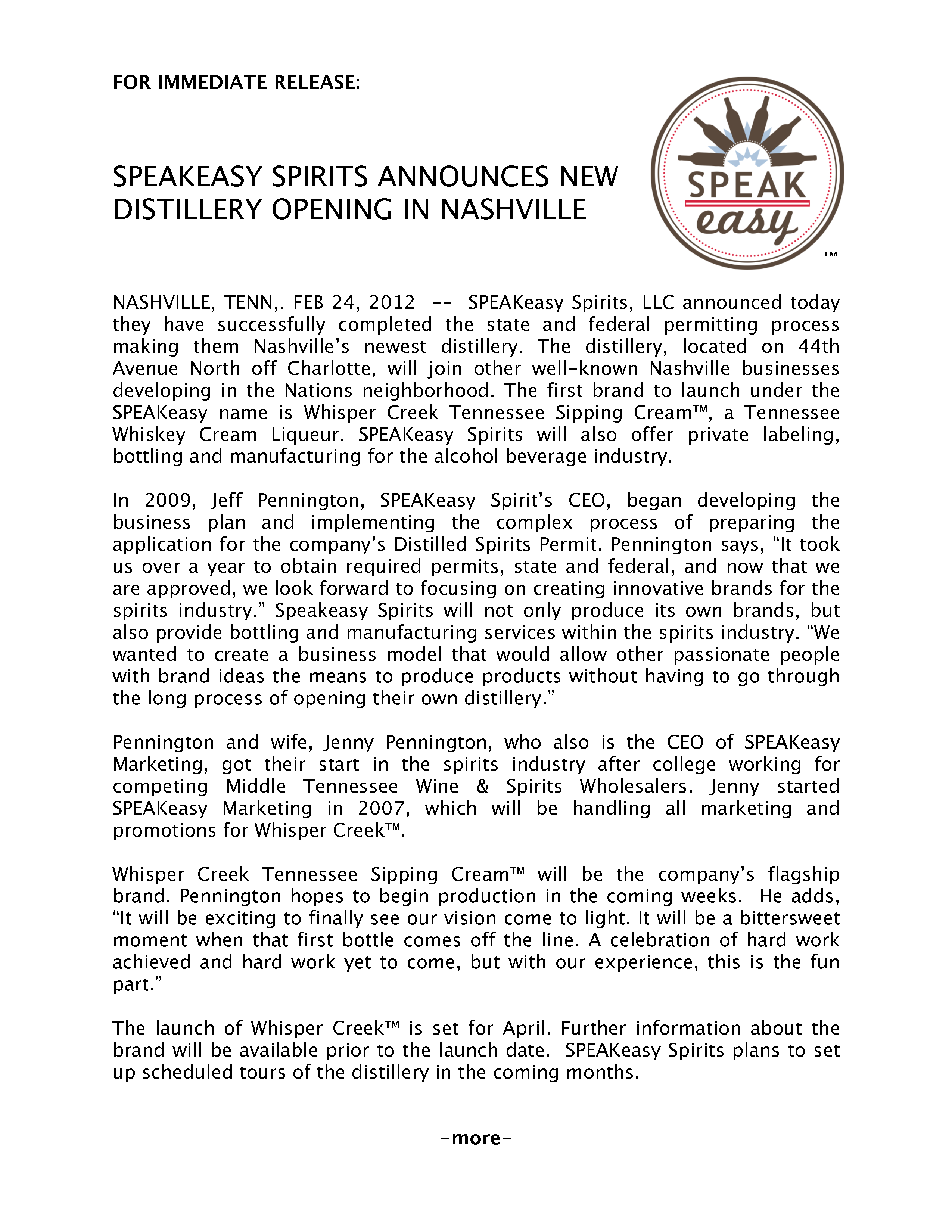 SPEAKeasy Press Release 1